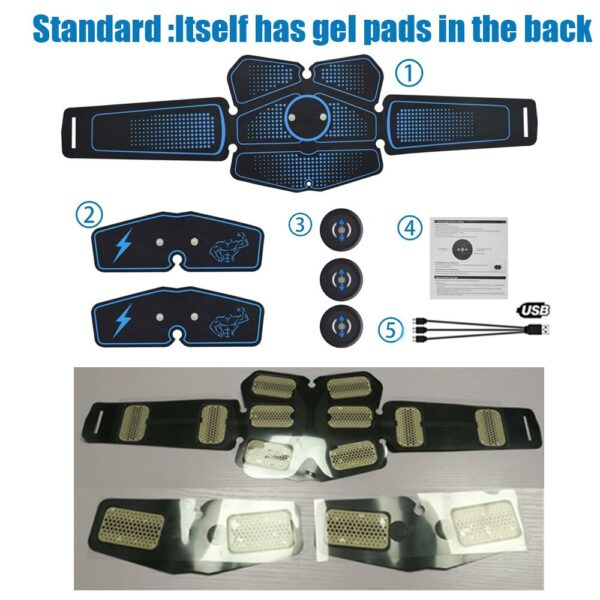 Abdominal Muscle Stimulator Waist Trainer Body Fitness Equipment Training Electro Muscle Stimulation Exercise Massager Home Gym