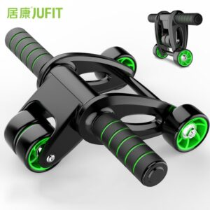 JUFIT No Noise Abdominal Wheel Ab Roller Trainer Fitness Equipment Gym Exercise Men Body Building