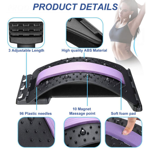 Stretch Equipment Back Massager Magic Stretcher Home Fitness Lumbar Support Relaxation Mate Spinal Pain Relieve Chiropractor