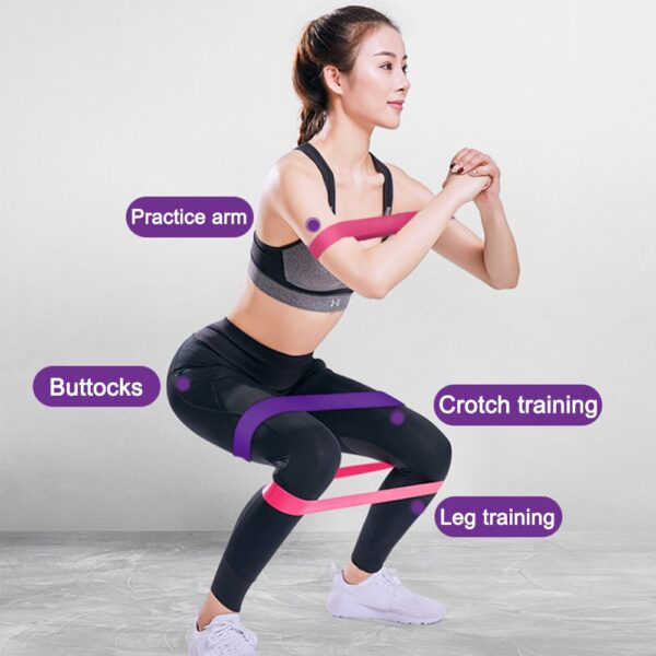 5 Colors Yoga Resistance Rubber Bands Indoor Training Fitness Booty Bands Strength Pilates Exercise Gym Workout Equipment