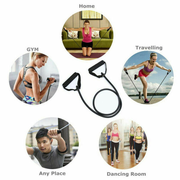 120cm Fitness Resistance Bands Gym Equipment Elastic Bands For Yoga Pull Rope Fitness Workout Home Excerciser Training 5 Levels