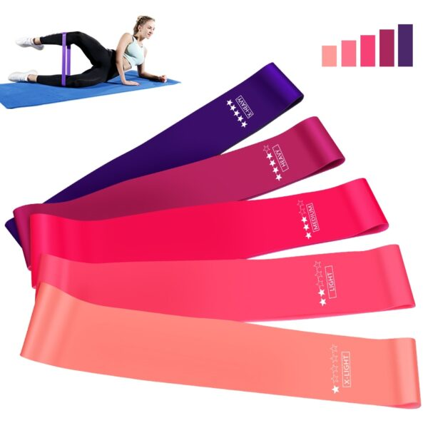 Crossfit Workout Resistance Bands Fitness Elastic Rubber Bands Training Workout Mini Bands Home Gym Home Yoga Strength Equipment